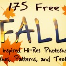 175 Free Fall Inspired Hi-Res Photoshop Brushes, Patterns, and Textures!