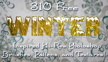 310 Free Winter Inspired H-Res Photoshop Brushes, Pattens, and Textures!