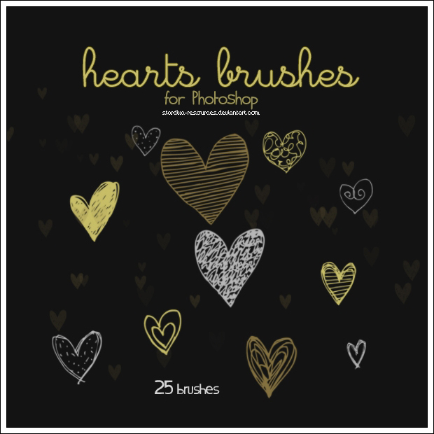 360 Free Valentines Day Photoshop Brushes Patterns And Textures